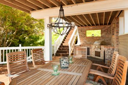 Deck building by Trinity Builders